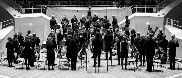 Konzert des Sinfonietta92 Orchesters, Generalprobe Kammermusiksaal, Berlin, 16.11.2019; Bildbearbeitung AntoniaFüchte,SimonEichmann